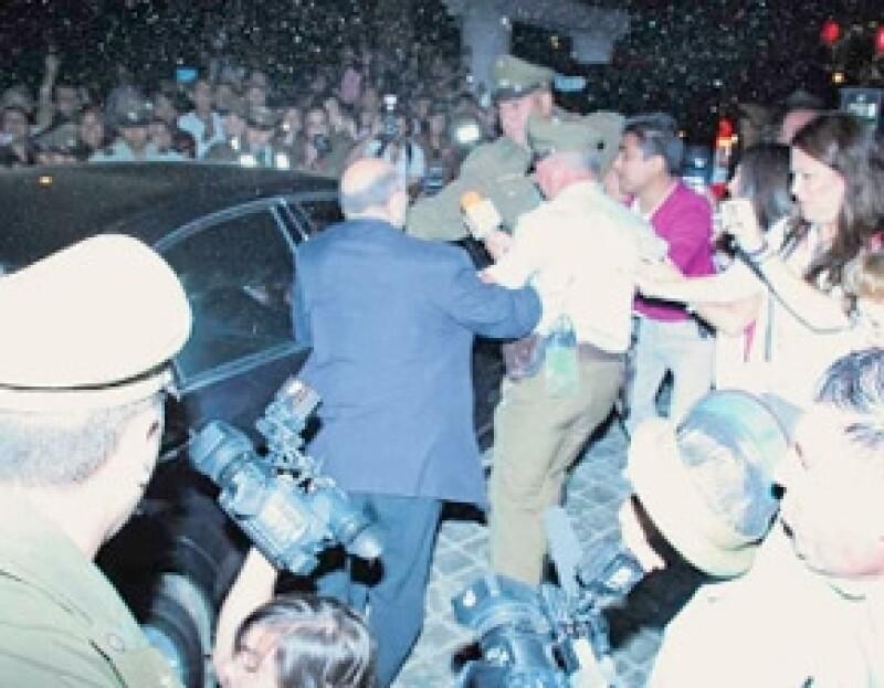 Consecuencia del tumulto hubo heridos.