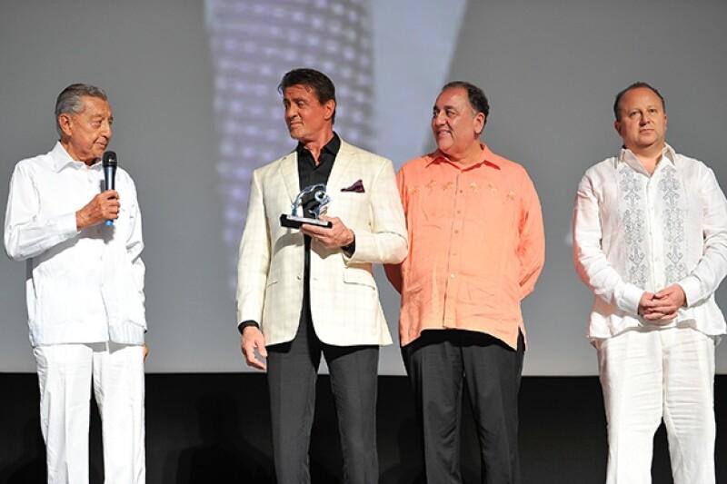 El actor de 67 años de edad fue reconocido por su trayectoria en el cine.