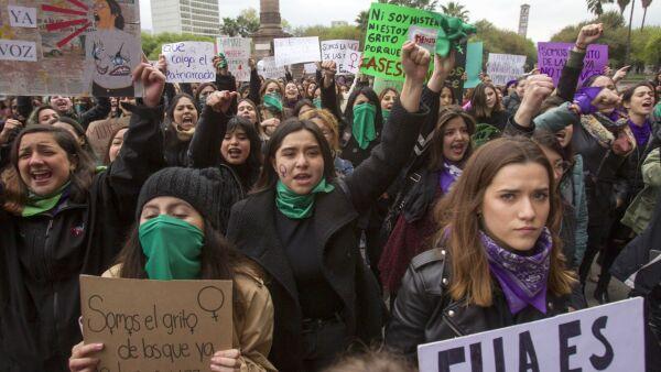 marcha mujeres 8 de marzo