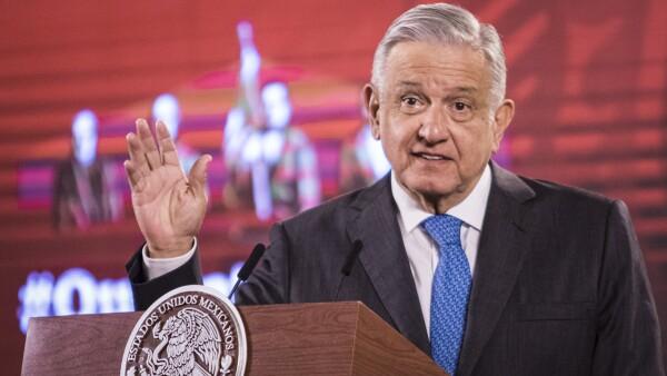 El Presidente Andrés Manuel López Obrador, en la tradicional conferencia de cada mañana.