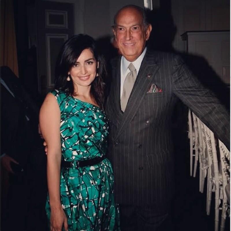 Ana y el fallecido diseñador Oscar de la Renta