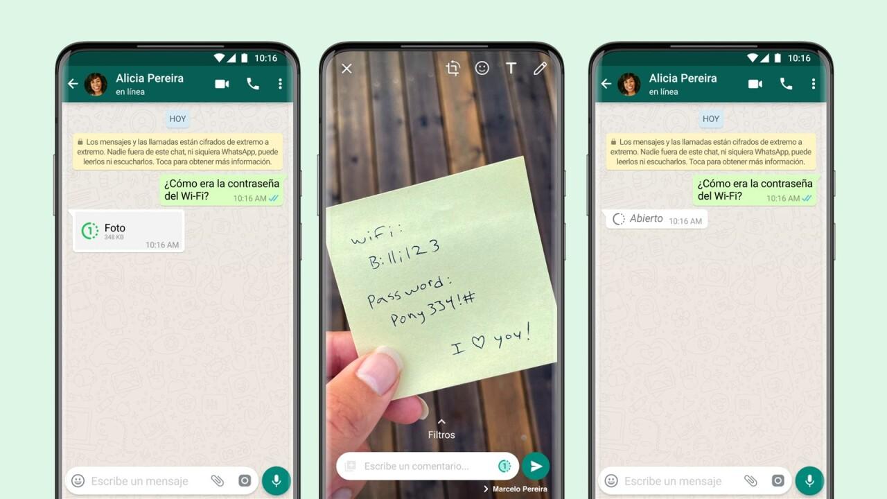 WhatsApp presenta función de fotos que se borran después de verlas