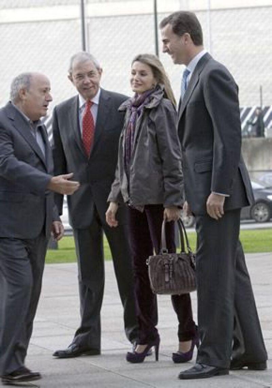 Amancio Ortega, dueño de la marca, fue el encargado de darles el recorrido por las instalaciones.