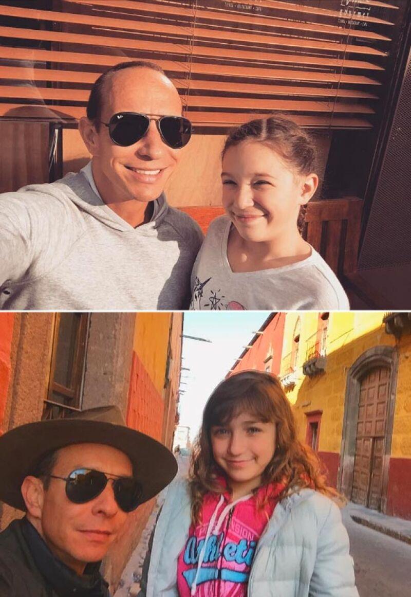 Erik no pierde oportunidad de mostrar el increíble talento de sus hijas.