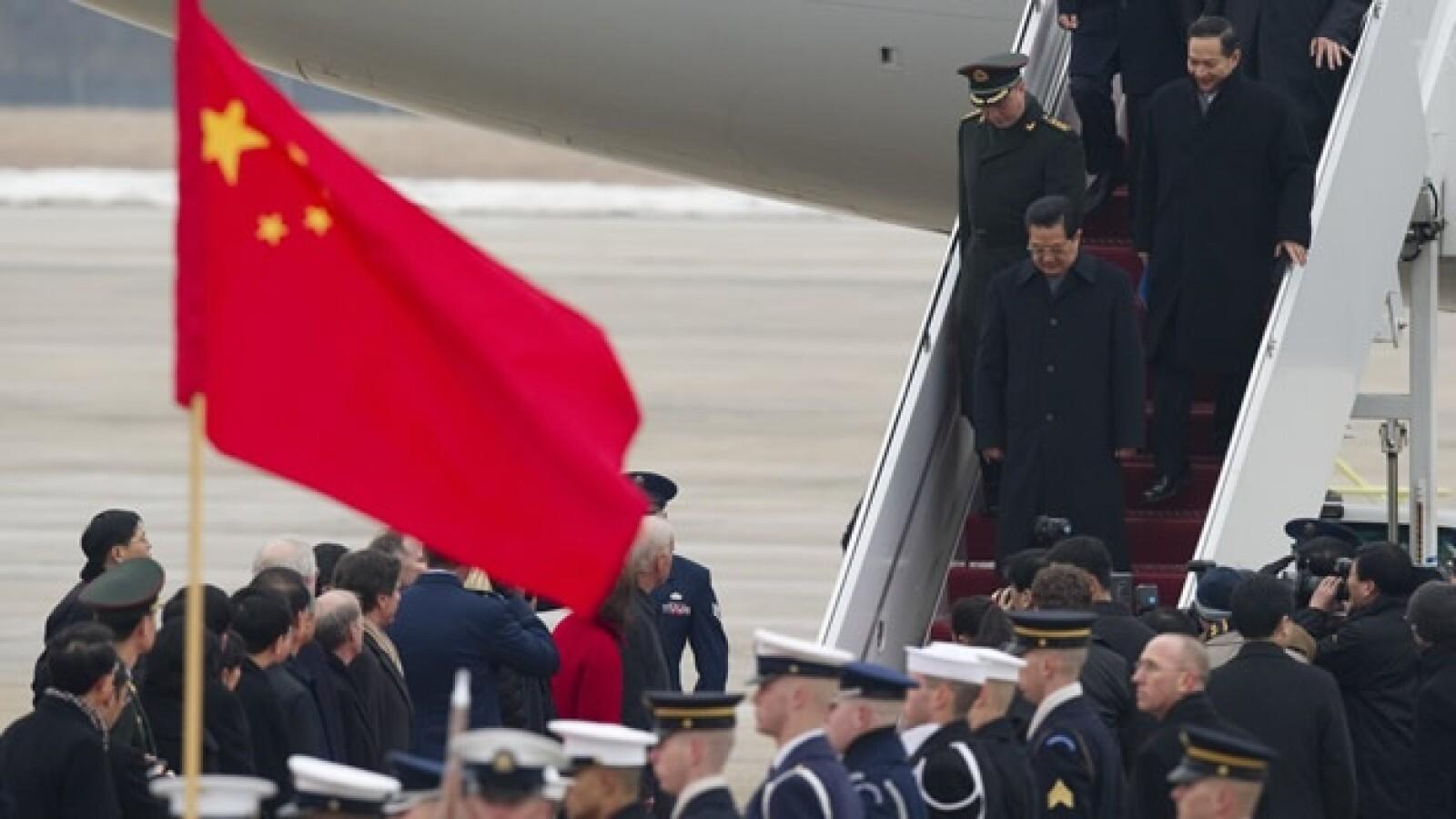 EU - China - Hu llega a EU