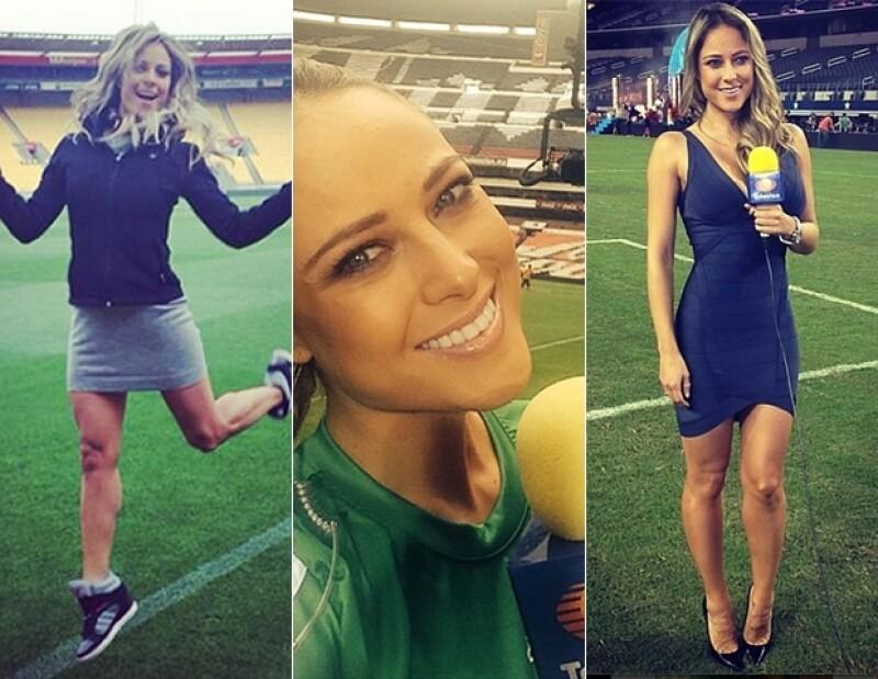 En su Instagram, Vanessa tiene fotos en estadios de todo el mundo.