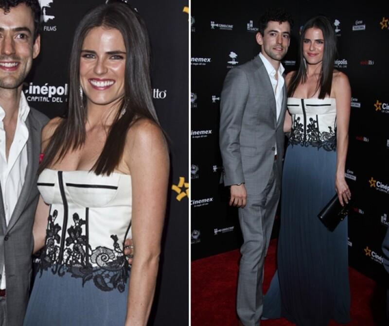 Karla Souza está a punto de casarse. Lució radiante en la alfombra roja de los premios de la Cámara Nacional de la Industria Cinematográfica.