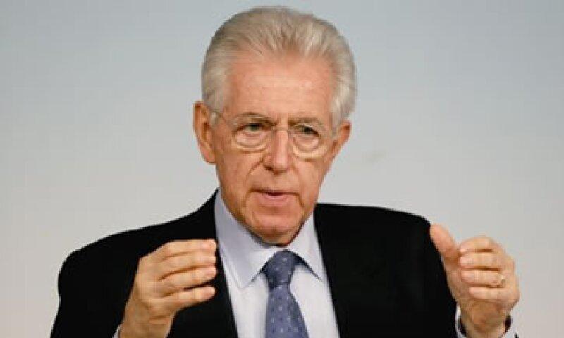 Monti llegó al poder hace un año en sustitución de Silvio Berlusconi.  (Foto: Reuters)