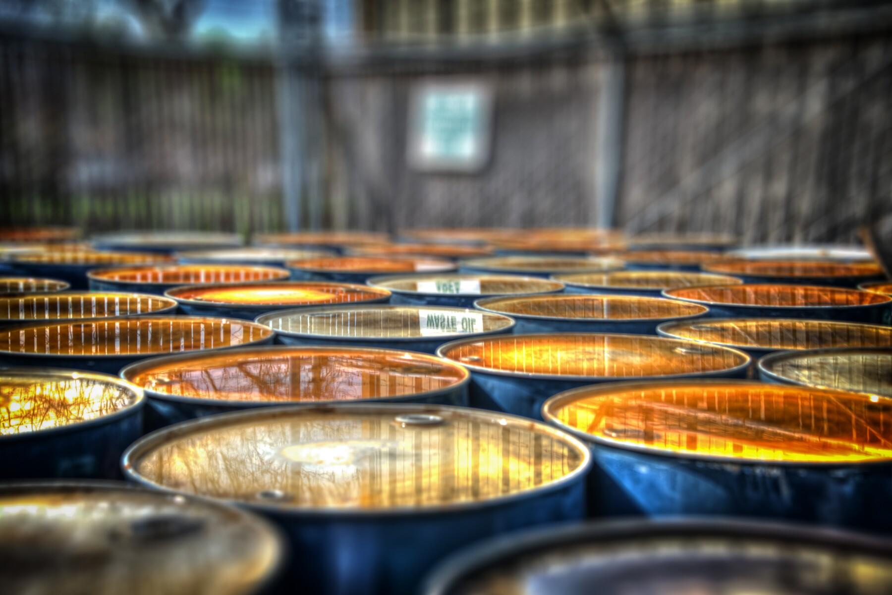 HDRI Oil Drums Reflection