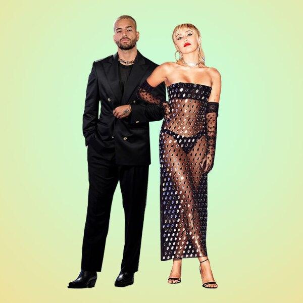 Foto: GettyImages, Maluma y Miley Cyrus