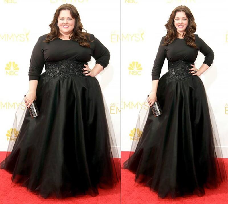 Melissa McCarthy quien notablemente es una de las celebs con sobrepeso en Hollywood, también apareció en la pagina.