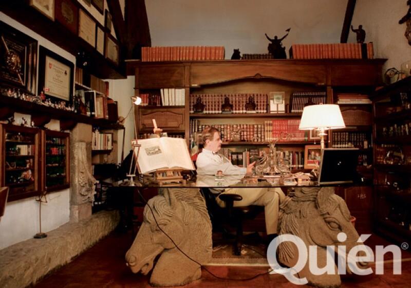 El despacho de Vicente Fox, uno de sus lugares favoritos de la casa.