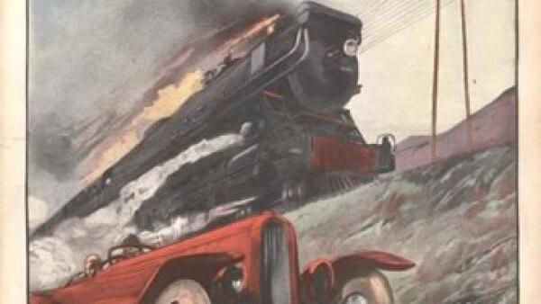 Trenes con la rapidez de un auto. Cr�dito: Archivo de la Bibliot�que Nationale de France