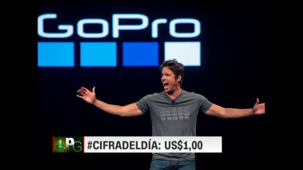 #LaCifraDelDía: US$1 es lo que recibirá el fundador de GoPro en 2018