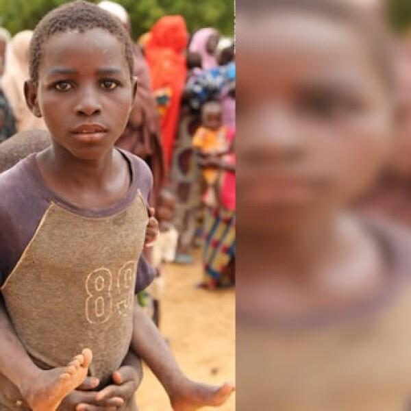 África - niño - maquillaje