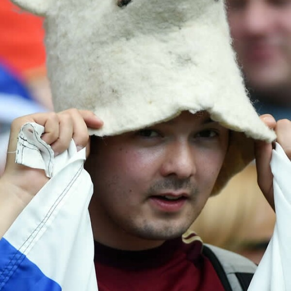 Hasta un oso polar llegó al Maracaná para apoyar a la selección rusa