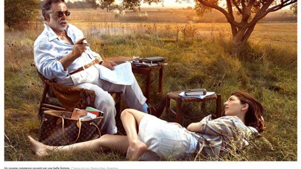 Francis Ford Coppola y su hija, Sofía, viajaron a Buenos Aires en 2009 para formar parte de la campaña de Louis Vuitton.