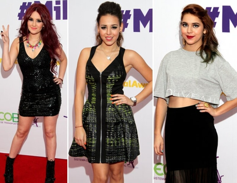 Dulce María, Danna Paola y Tessa Ia desfilaron por la alfombra azul.