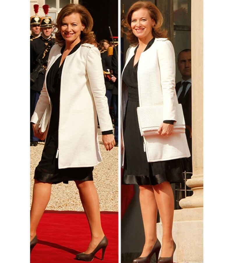Valerie Trierweiler, novia del nuevo presidente de Francia, François Hollande, generó simpatía entre grandes figuras de la moda.