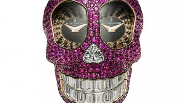 El nuevo reloj de de Grisogono, `Crazy Skull´, llevó aproximadamente 250 horas en elaborarse.