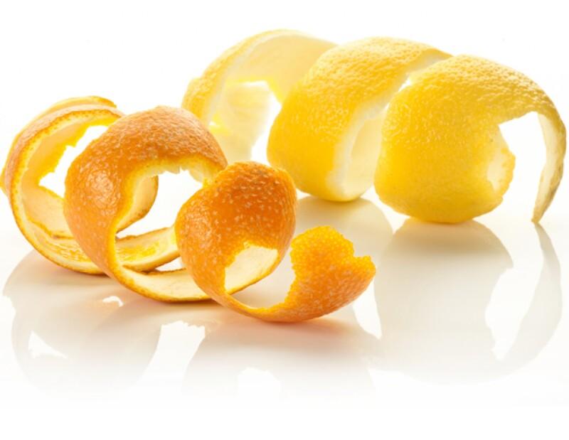 Mascarilla de cáscara de naranja y limón.