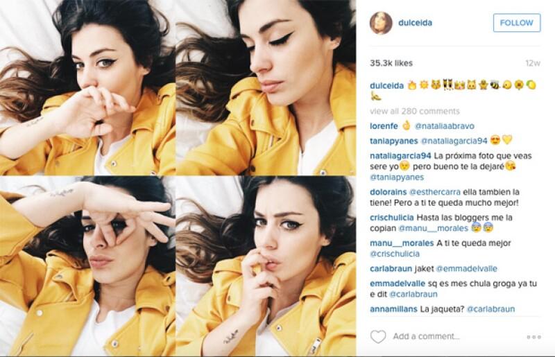 Aida Domenech de Barcelona compartió fotos con la chamarra de Zara.