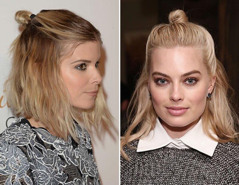 Kate Mara y Margot Robbie son fanáticas del half bun.
