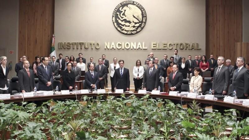 El Consejo General del Instituto Nacional Electoral, que prevé aprobar a tres nuevos partidos políticos en México