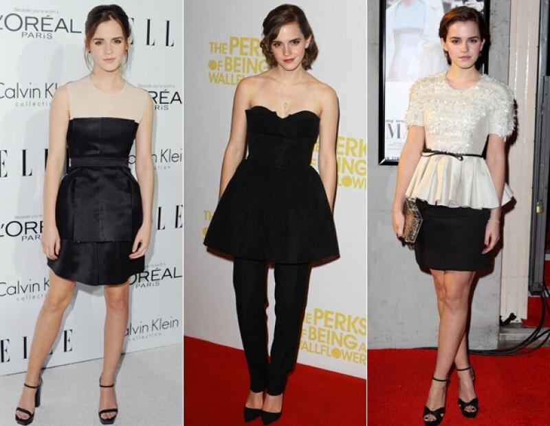 Las distintas formas de usar el negro de Emma Watson