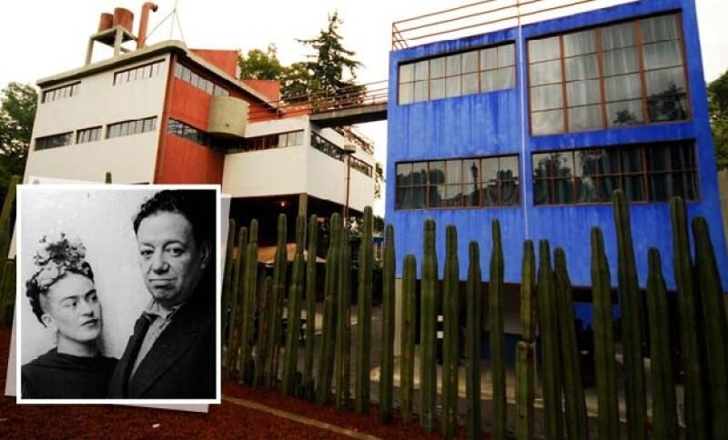 Las casas gemelas de Frida y Diego.