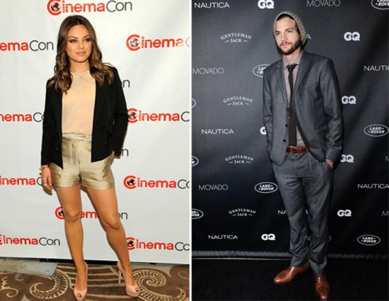 Aunque la actriz ha negado tener una relación amorosa con el ex de Demi Moore, la pareja ha sido captada en varias ocasiones.