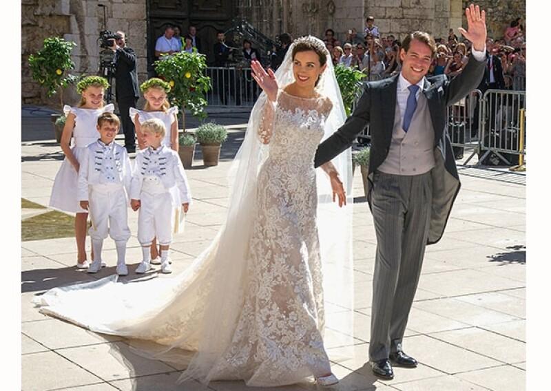 Claire Lademacher y el Príncipe Félix de Luxemburgo se dieron nuevamente el `sí´en una ceremonia religiosa al sur de Francia.