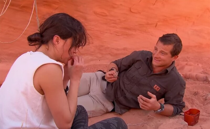 "La actriz fue forzada a probar una desagradable ""comida"" en un episodio de Running Wild With Bear Grylls."