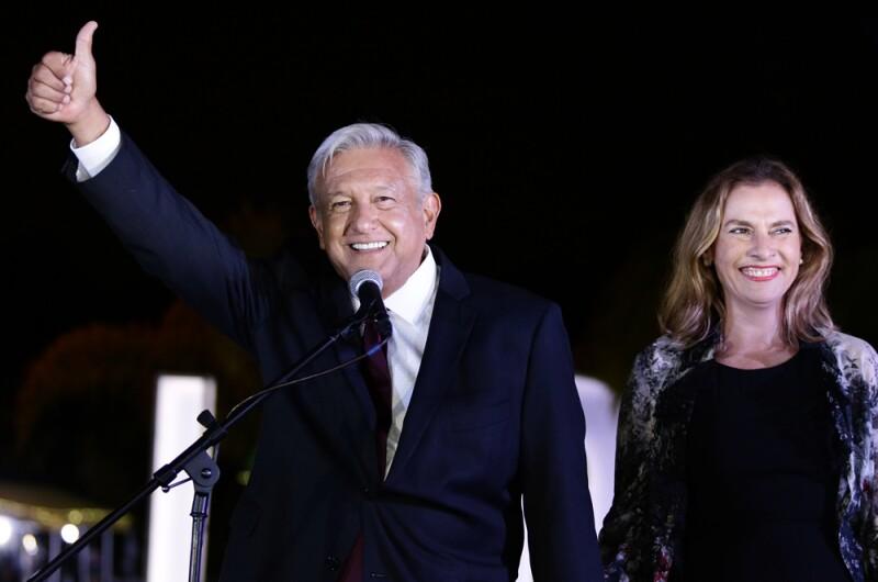 Andrés Manuel y Beatriz Gutiérrez