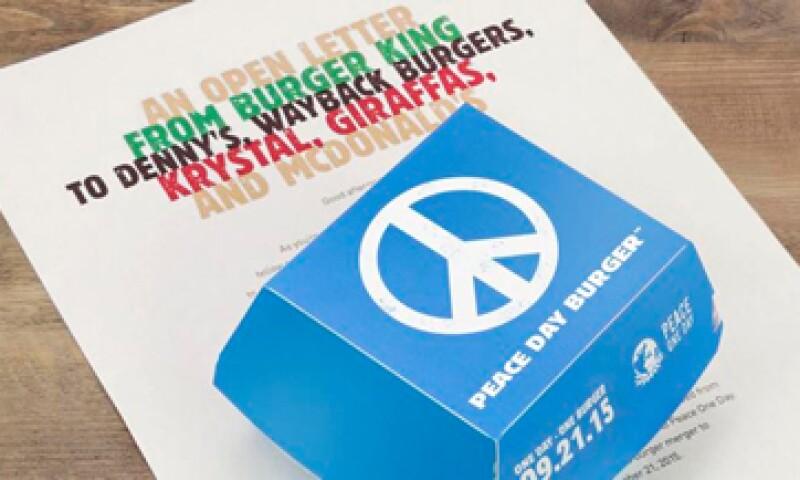 La Hamburguesa por el Día de la Paz se servirá en un restaurante temporal en Estados Unidos. (Foto: Tomada de @BurgerKing )