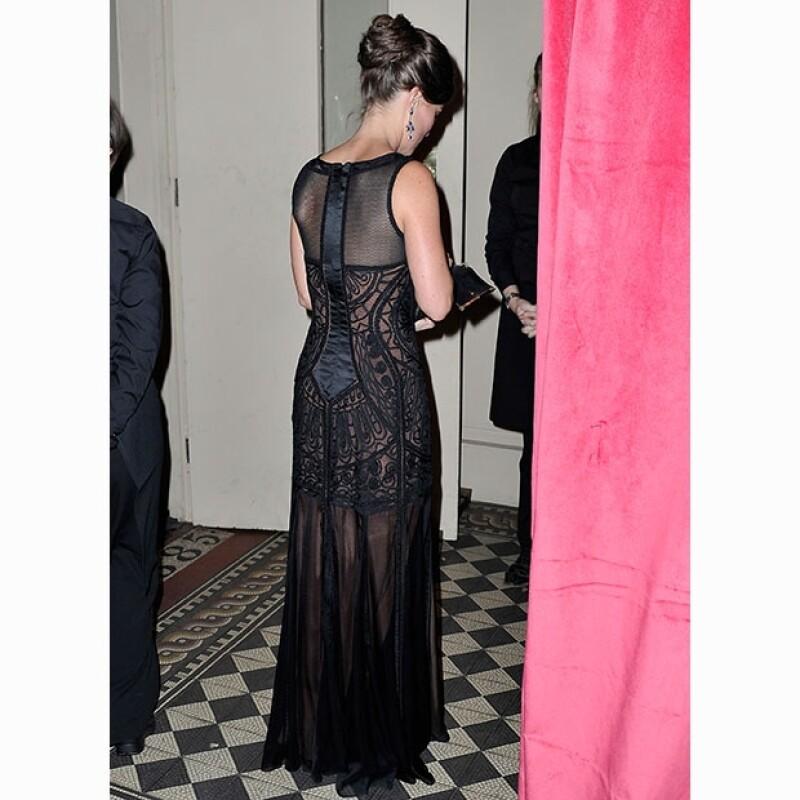 El vestido de Pippa Middleton a detalle.