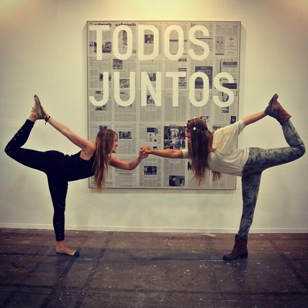 Aún en eventos de arte (los favoritos de Nunzia) las hermanas se dan tiempo de probar su estilo de vida sano y su figura fit.