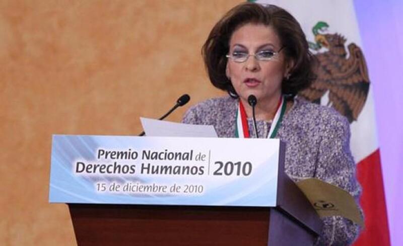 Miranda de Wallace recibió en 2010 el `Premio Nacional de Derechos Humanos´.