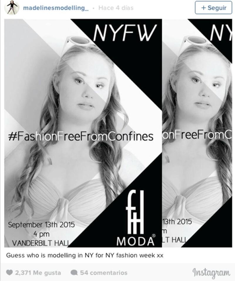 La modelo tendrá su presentación en Septiembre y dio a conocer la noticia en Instagram.