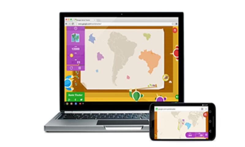 La aplicación para seguir a Santa Claus es compatible con teléfonos inteligentes y tabletas. (Foto: Cortesía Google)