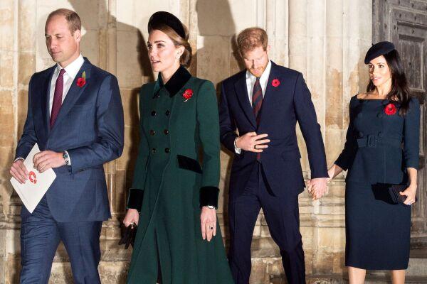 William, Kate, Meghan y Harry
