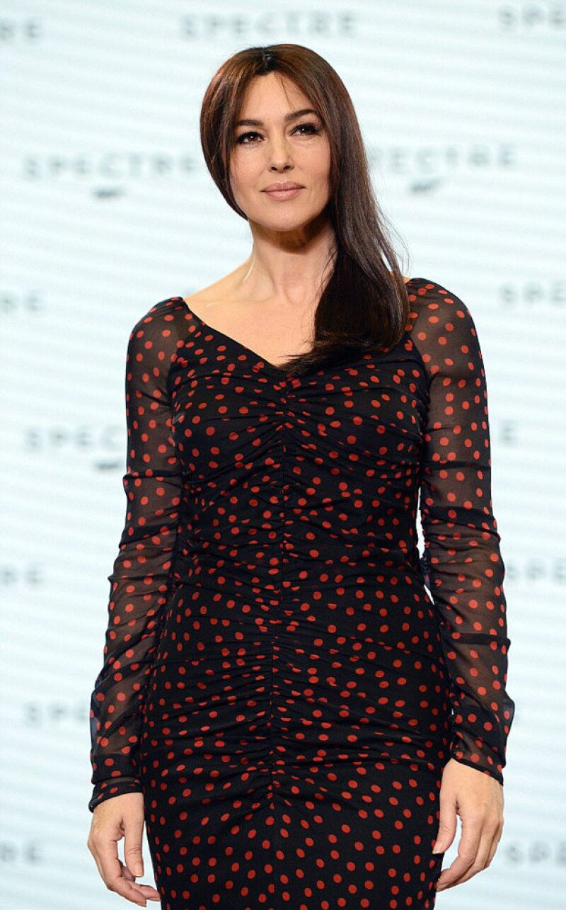 Monica Bellucci en la reciente promoción de Spectre.