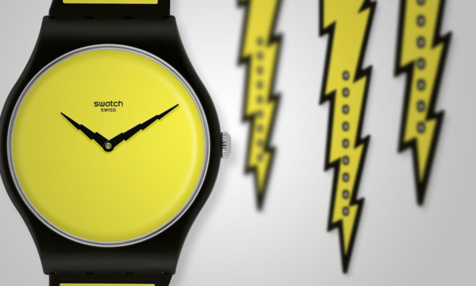 Esta segunda pieza tiene estilo de cómic y fue creada también por Scott. Lleva por nombre 'Lightning Swatch'.