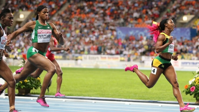 Shelly Ann Fraser prueba 200 metros Mundial de Atletismo