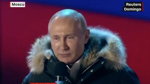 Vladimir Putin fue reelecto presidente de Rusia con una abrumadora victoria