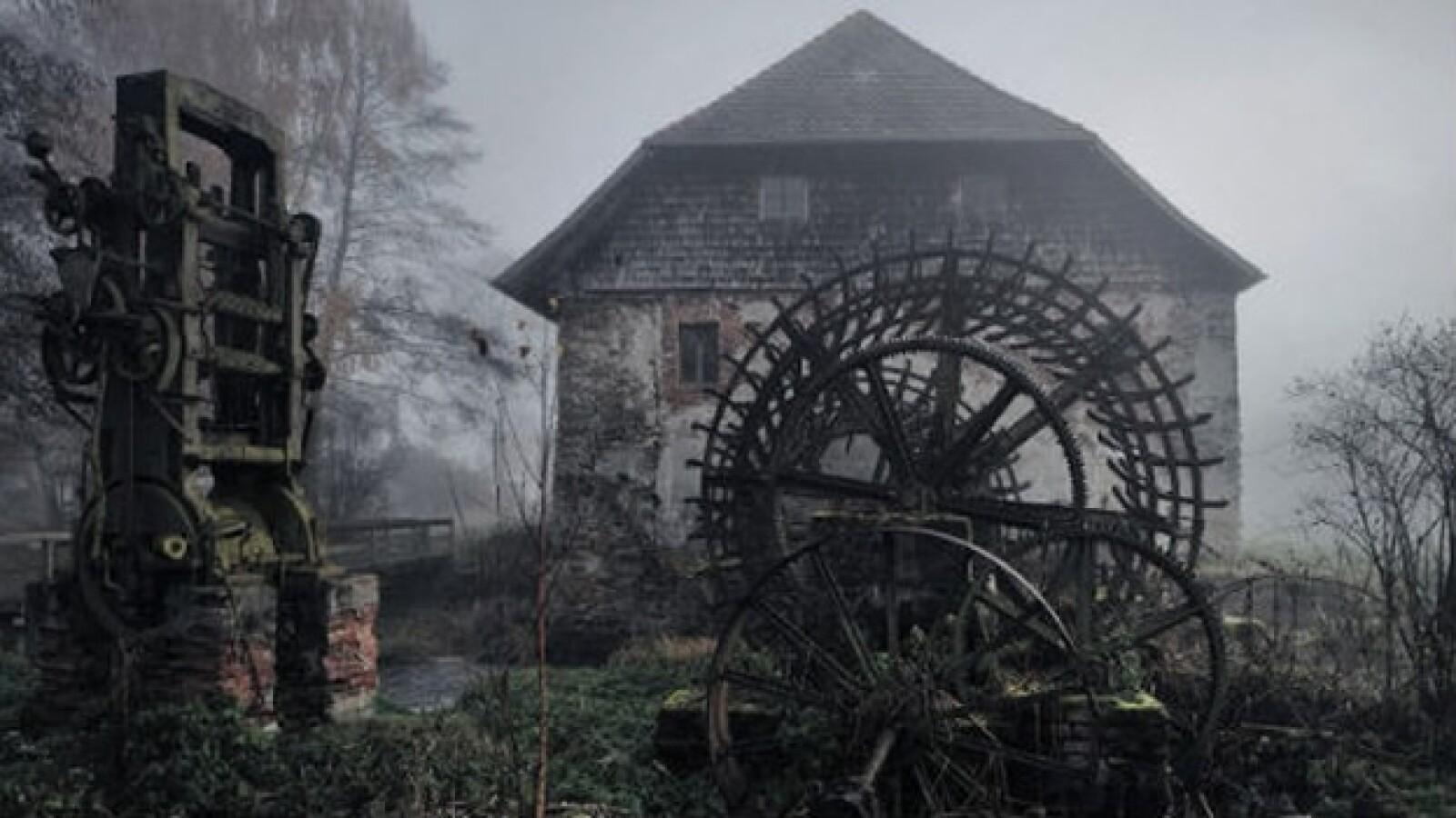 paisaje antiguo molino Alemania