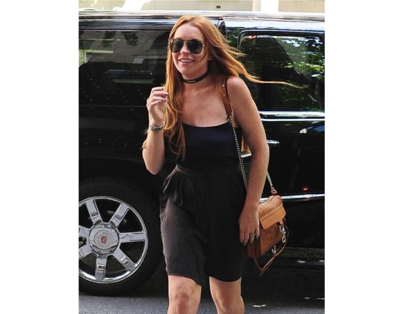 Lindsay ya se encuentra grabando su reality show en Nueva York.