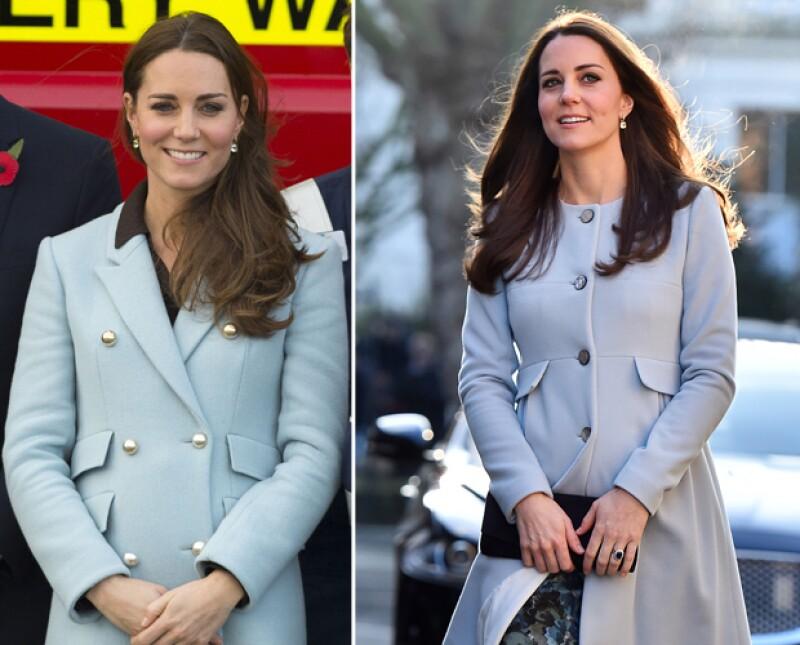 Los tonos claros de azul favorecen a la duquesa de Cambridge al vestir.