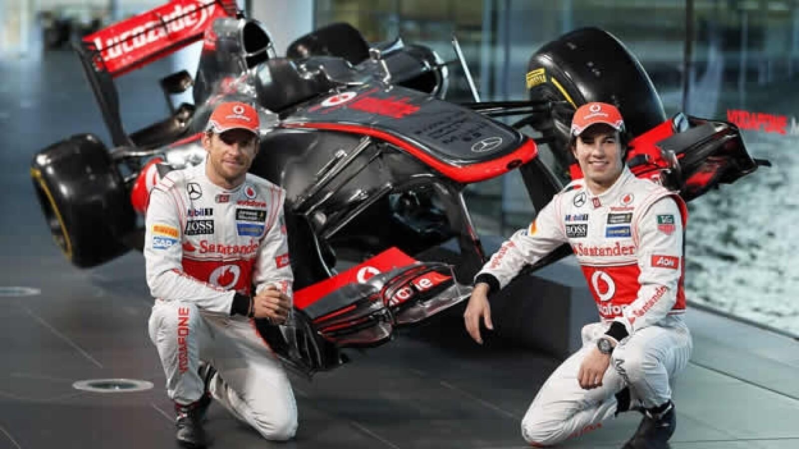 Jenson Button Checo Perez