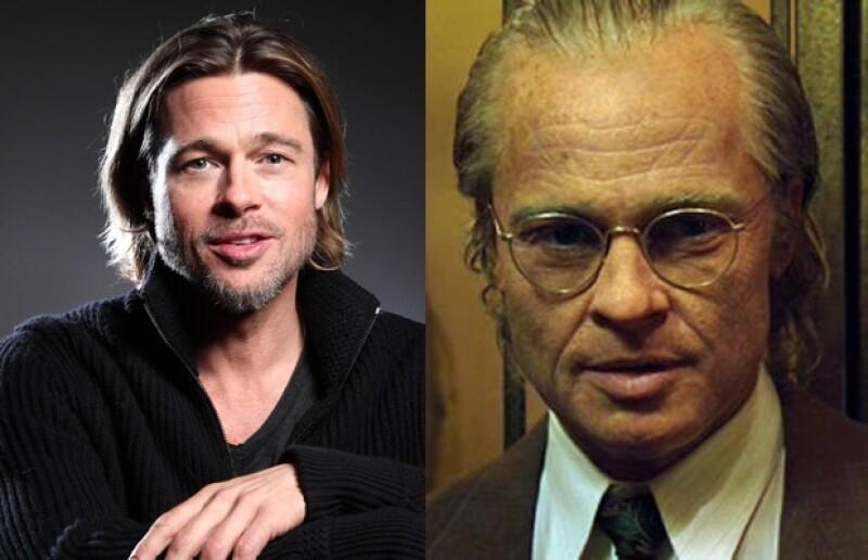 Brad Pitt se transformó en Benjamin.